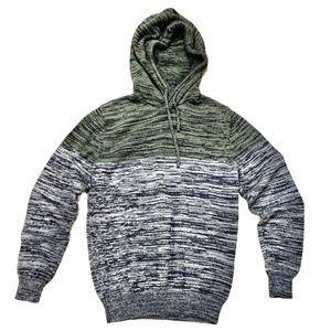 American Rag Heathered Green / Gray Hooded Sweater